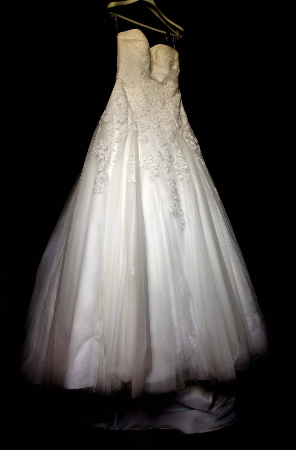 phorographie de la robe de la mariée