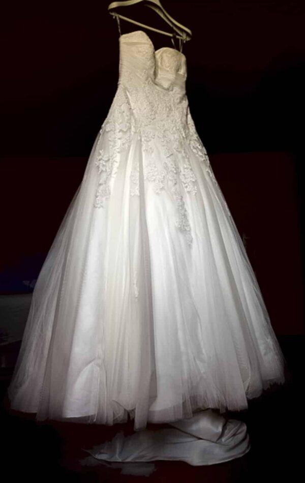 photogrphie de la robe de la mariée