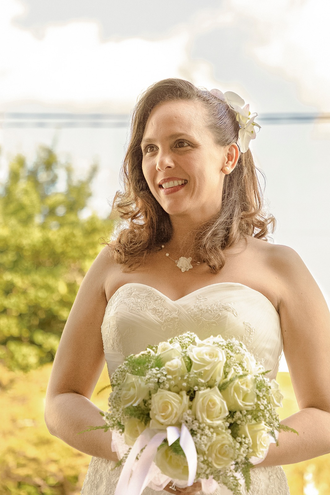 photographe mariage chantilly portrait de la mariée