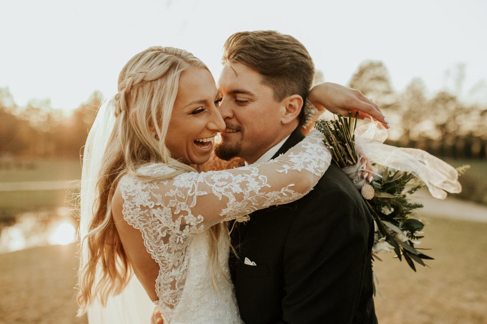 photographie couple le jour du mariage
