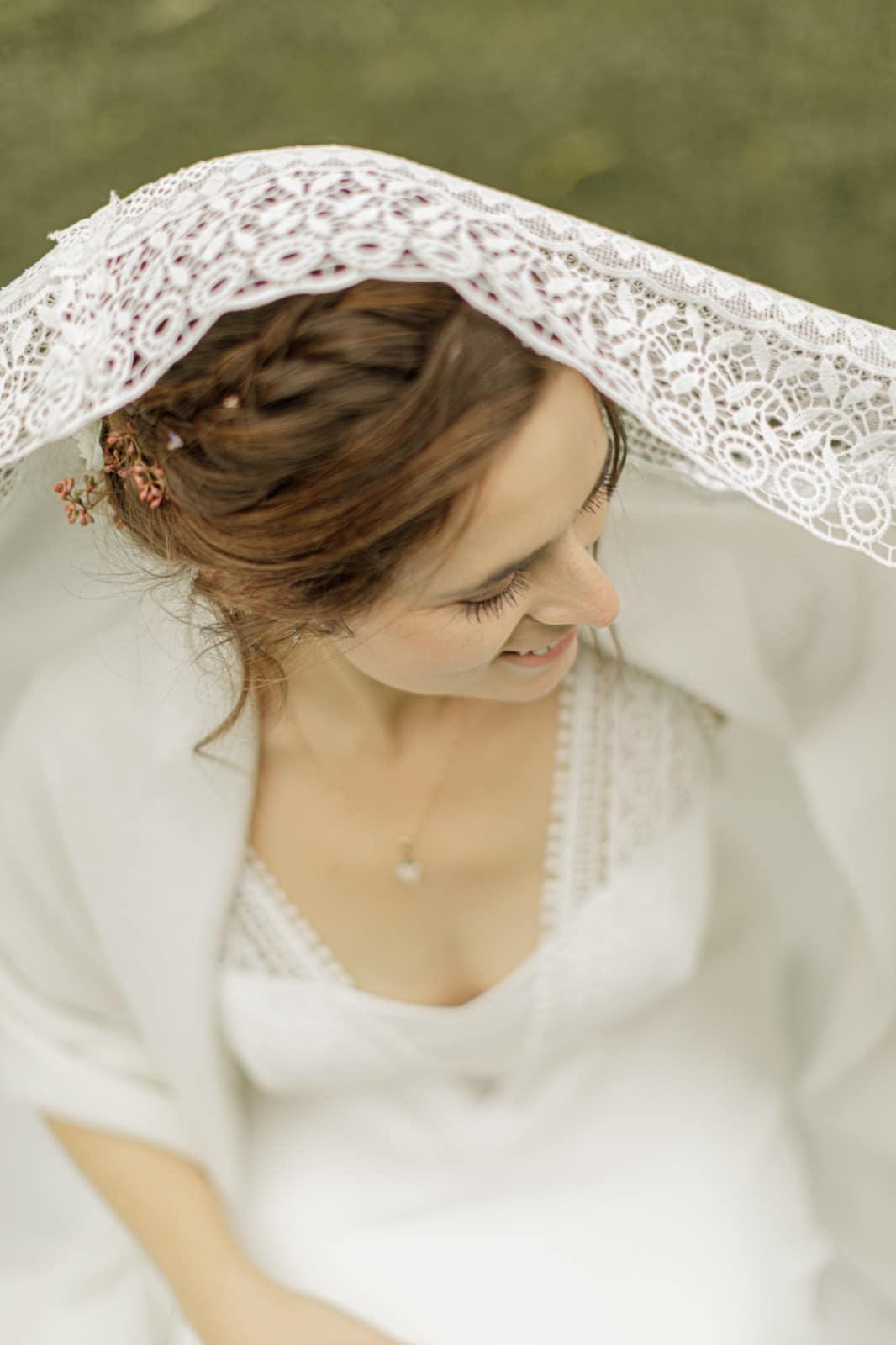 photographe mariage paris portrait de la mariee