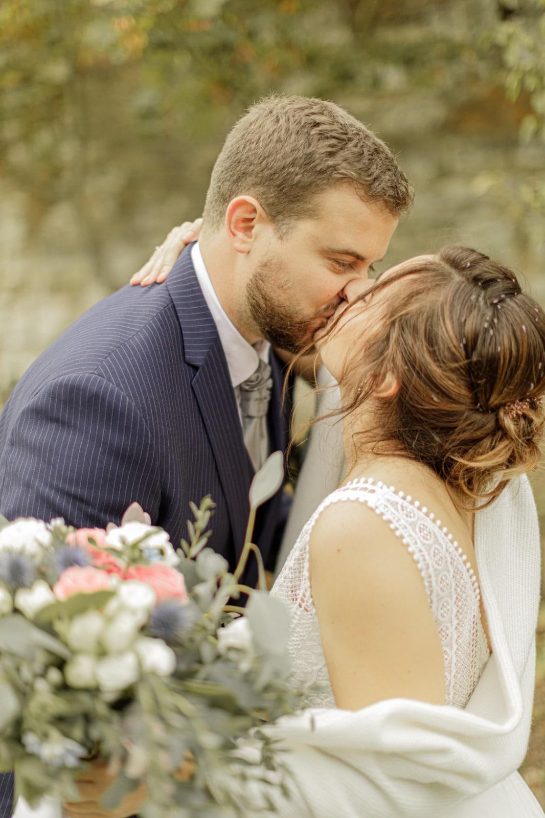 portrait de couple lors du mariage