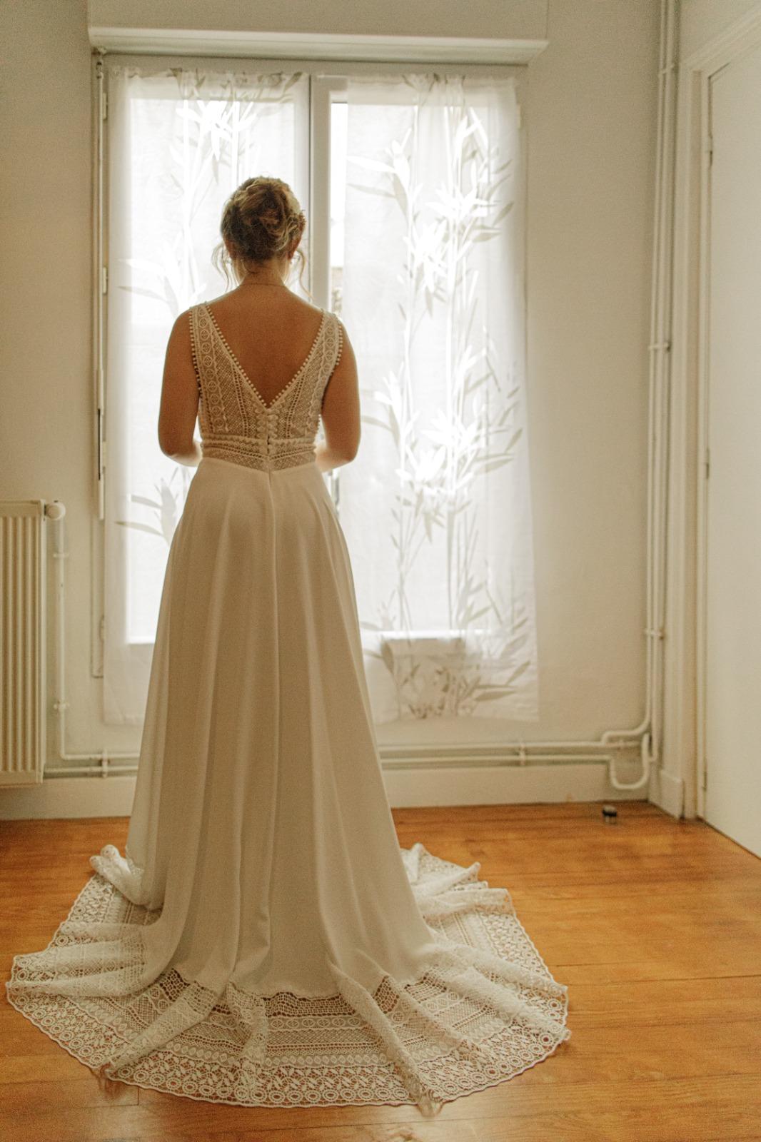 superbe robe de la mariée