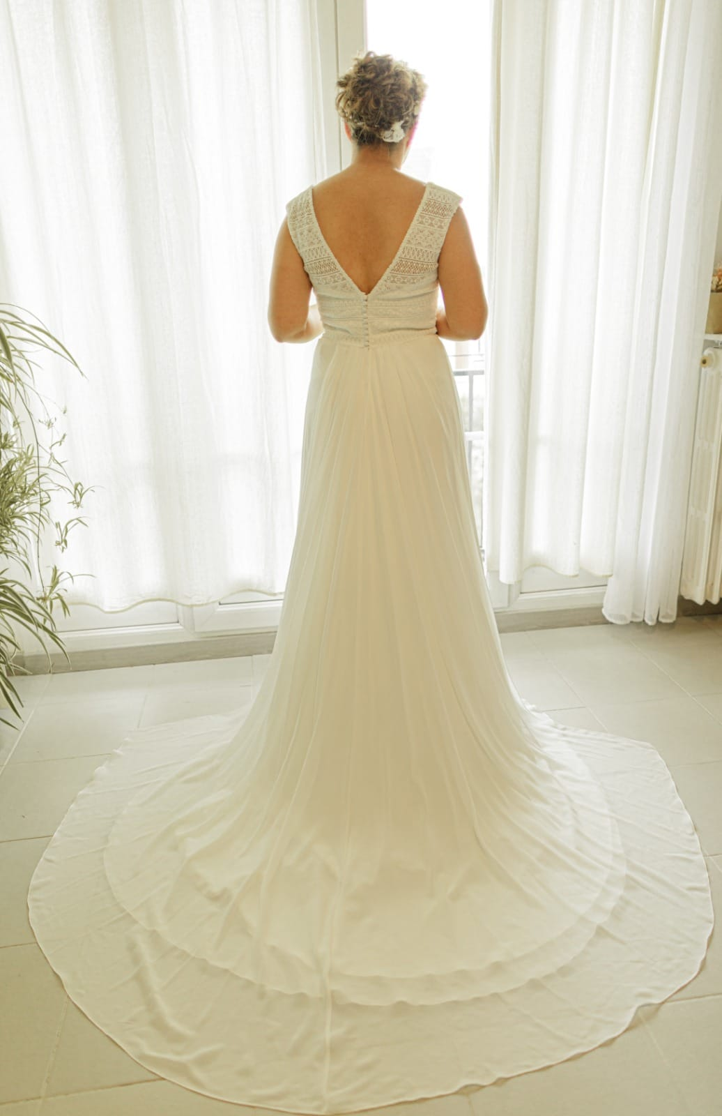 photographe mariage oise robe mariée de dos